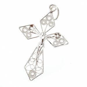 Pendenti, croci, spille, catenelle: Croce pendente filigrana argento 800