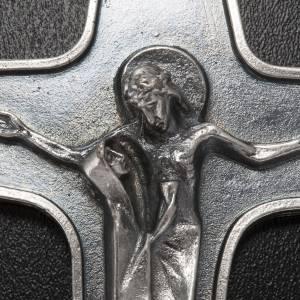 Ciondolo croce metallo Maria con calice e Cristo s3