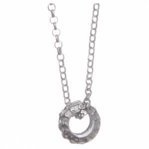 Pendenti, croci, spille, catenelle: Ciondolo rosario bianco argento 925