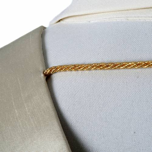 Clergy stole in shantung, golden embroidery s5