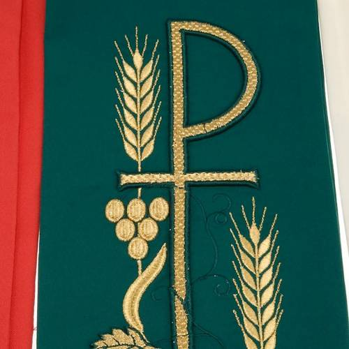 Clergy stole with Chi-Rho embroidery s9