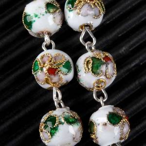 Cloisonné rosary with round 8mm beads s6