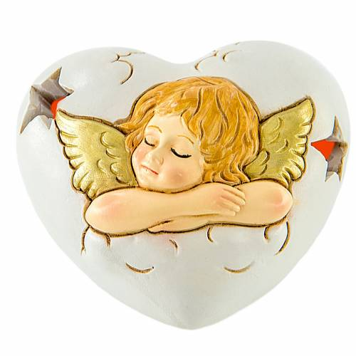Coeur avec LED Ange 7 cm s1