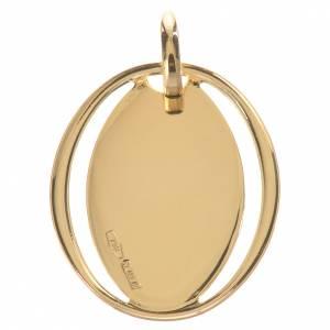 Colgante oval con Virgen en Oro 750/00 - gr. 0,71 s2
