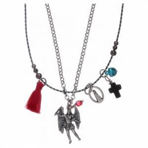 Pendenti, croci, spille, catenelle: Collana doppia San Michele Arcangelo e Madonna di Loreto