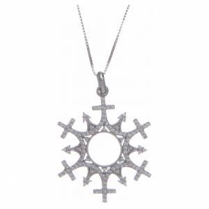 Colgantes, cruces y broches: Collar AMEN Corona cruces Plata
