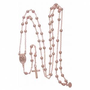 Chapelets en métal: Collier chapelet AMEN diam. 4 mm bronze rosé