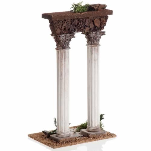 Colonnes romaines miniature crèche Noel s3