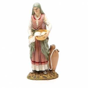 Figuras del Belén: Comadrona resina pintada cm 10 Línea Martino Landi