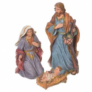 Complete nativity set in multicoloured resin, 11 figurines 27cm s2