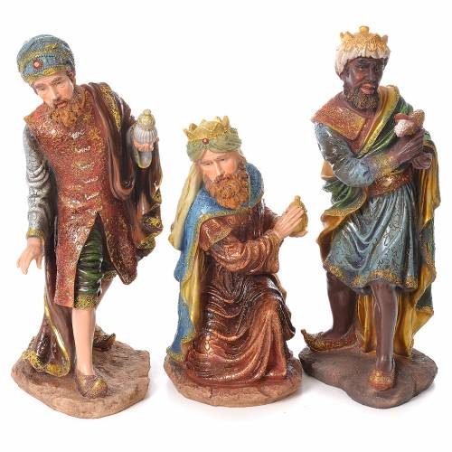 Complete nativity set in resin, 11 figurines 53cm s3