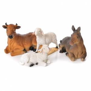 Complete nativity set in resin, 12 figurines 45cm s5