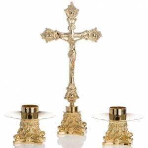 Croci da altare con candelieri: Completo croce e candelieri