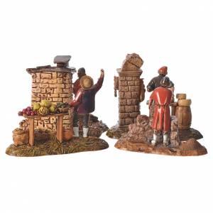 Composition with 4 nativity figurines, 10cm Moranduzzo s6