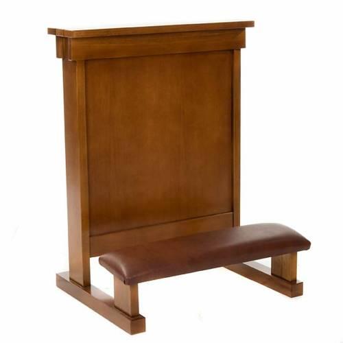 Confesionario reclinatorio de madera de nogal s3