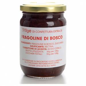Confiture fraises de bois 310 g Carmélites s1