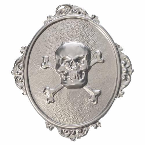 Confraternity Medal in brass, Skull s1