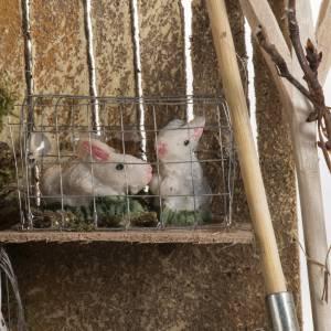 Conigli in ambientazione presepe 8-10 cm s3