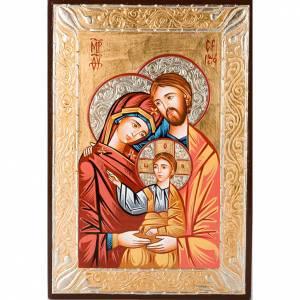Icónos Pintados Rumania: Ícono sacro pintado a mano Sagrada Familia