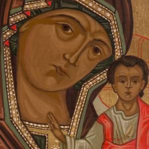 Ícono Virgen de Kazan 20x15 cm Rusia s2