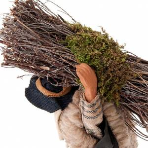 Boscaiolo con legna 14 cm s2