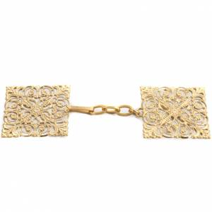 Cope clasp, gold-plated brass, square s1