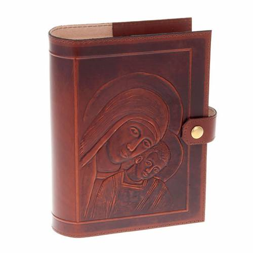 Custodia Bibbia vera pelle Cristo Madonna Bimbo s1
