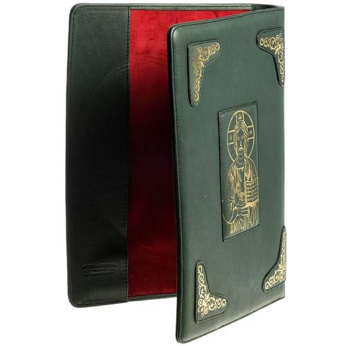 Copertina per messale romano verde stampa oro s3