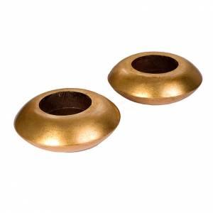 Coppia candelabri legno dorato s1