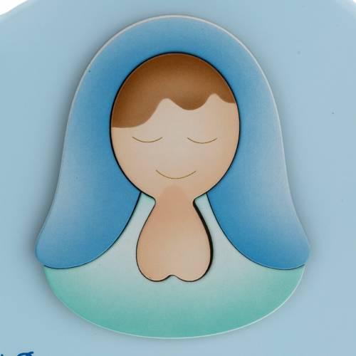 Corazón cántico Ave María celeste Azur Lopp s2