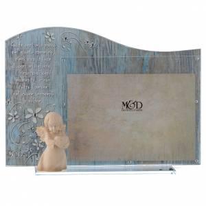 Bomboniere e ricordini: Cornice vetro Blu angelo legno 20x15  cm