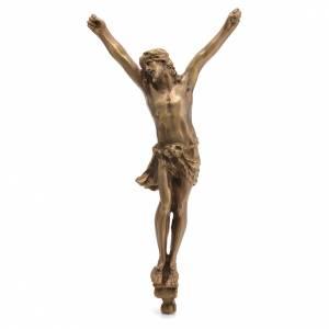 Corpo di Cristo ottone bronzato 60cm s1