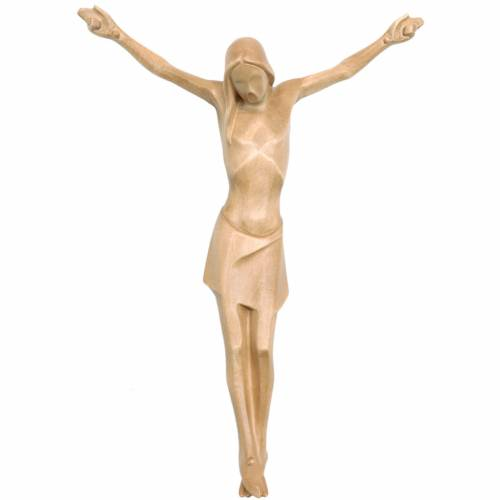 Corps du Christ stylisé bois patiné Valgardena s1