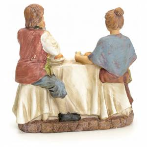 Couple eating at the table, for nativities of 20cm s3