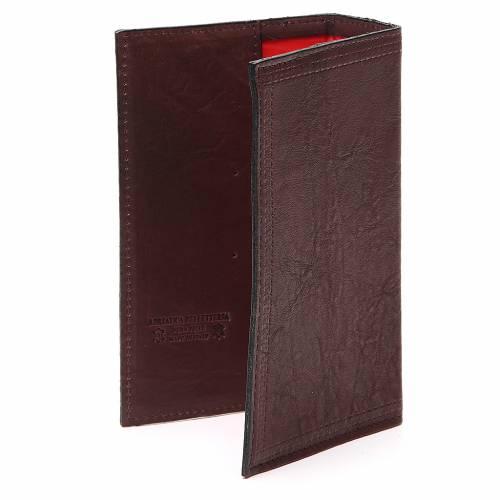 Couverture Lit. Vol. unique cuir brun foncé croix IHS s3