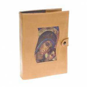 Couverture Néocatéchuménale Vierge avec enfant beige s1
