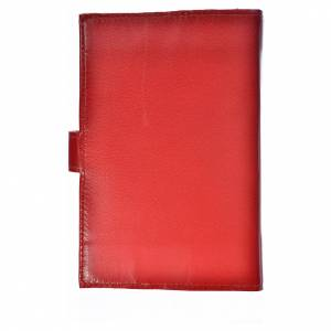 Cover for the Divine Office burgundy leather Our Lady of Kiko s2