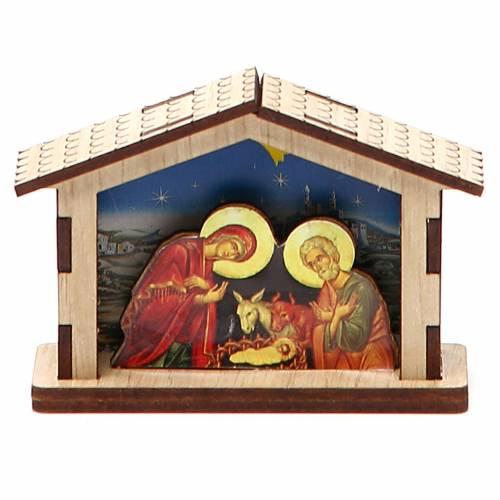Crèche miniature nativité en bois s3