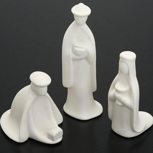 Crèche Noel complète porcelaine blanche mignon s4