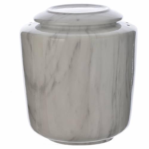 Cremation urn in ceramic Carrara model s1