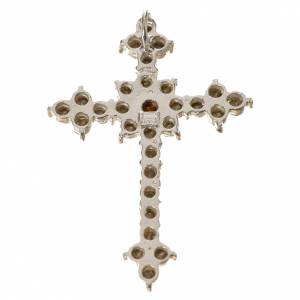 Croce Argento 800 e strass 3,5 x 4,5 cm s2