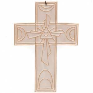 Croce da muro ceramica Trinità s3