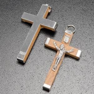 Rosari Fai Da Te: Croce legno corpo e retro metallo rosari fai da te