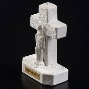 Croce Madonna di Medjugorje marmo bianco s3