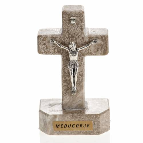 Croce Medjugorje marmo 11x6 s1