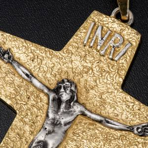 Croce pettorale vescovile ottone bicolore s4