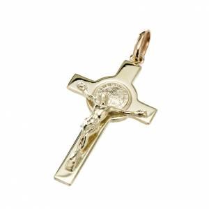 Croci di san Benedetto: Croce San Benedetto oro 14K