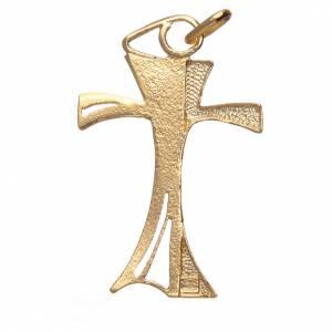 Croce traforata in argento 800 dorato 3,5x2,5 cm s2