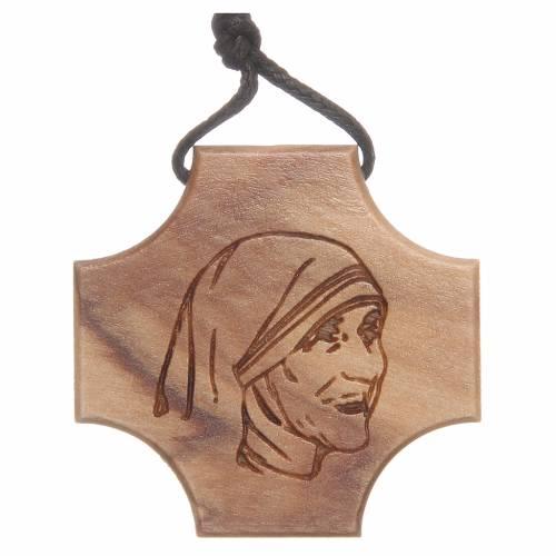Croce ulivo Madre Teresa di Calcutta incisione s1