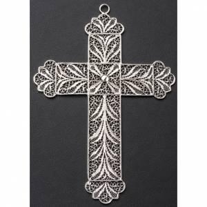 Croce vescovile arg. 800 filigrana s3
